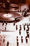 Professional turntable audio vinyl record music player Royalty Free Stock Image