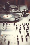 Professional turntable audio vinyl record music player Stock Images