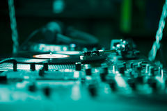 Professional turntable audio vinyl record music player Royalty Free Stock Images