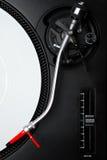 Professional turntable för en DJ Royaltyfri Bild