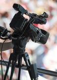 Professional TV camera. Royalty Free Stock Photos
