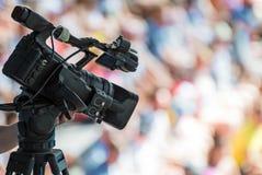 Professional TV camera. Royalty Free Stock Photography