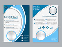 Professional two-sided vector booklet design Stock Images