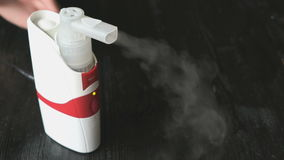 Professional ultrasonic inhaler nebulizer stock footage