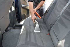 Professional Upholstery Auto Detailing Stock Photos