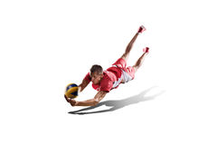 Professional valleyball player isolated on white Stock Image