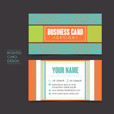 Professional vector business card set. Template design Royalty Free Stock Photography