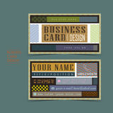 Professional vector business card set. Template design Royalty Free Stock Images