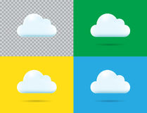 Professional Vector Cloud Icon Set in Vector Illustration Isolat. Ed on Blue Background Stock Photography