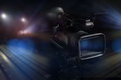 Professional video camcorder in studio Royalty Free Stock Photography