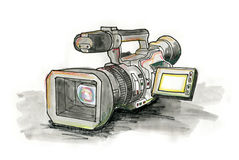 Professional Video Camera Stock Image