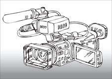 Professional video camera Stock Photos