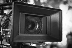 Professional video camera lens Royalty Free Stock Image