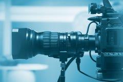 Professional video camera lens Stock Image