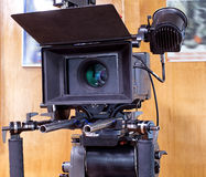 A professional video camera. Camera for shooting feature films and television series Stock Photo
