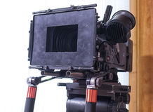 A professional video camera. Camera for shooting feature films and television series Stock Photography