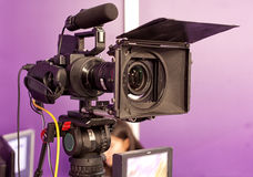 A professional video camera. Royalty Free Stock Photos