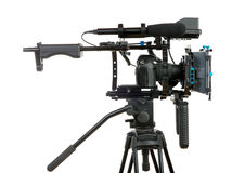 Professional video camera. On the white background Stock Photo