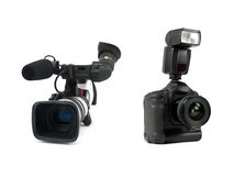 Professional Video Cameras Stock Photography