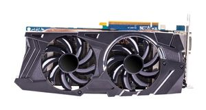 Professional video card isolated stock photography