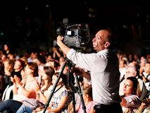 Professional video grapher Stock Photo