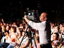 Professional video grapher Stock Photo