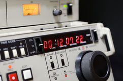 Professional video recorder. Control panel Royalty Free Stock Images