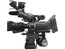 Professional videocamera royalty free stock photography