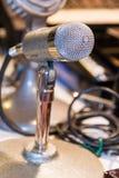 Professional vintage microphone; retro style Royalty Free Stock Photos