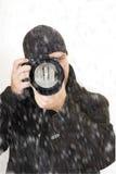 professional vinter för utomhus- fotograf Royaltyfri Foto