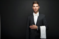 Professional Waiter Man Royalty Free Stock Photos