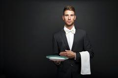 Professional waiter man Royalty Free Stock Image