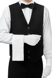 Professional waiter at your service Stock Photo