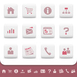 Professional Web Icons Buttons Vector Set Royalty Free Stock Image
