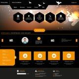 Professional Website Design Dark Template Royalty Free Stock Image