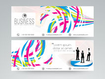 Professional website header or banner set for business. Stock Photos