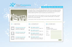 Professional website template. Easy to edit and replace text and images Stock Photos