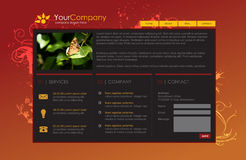 Professional website template. Easy to edit and replace text and images Royalty Free Stock Images