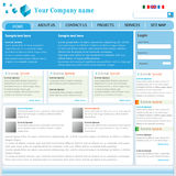 Professional Website Template. In editable format Stock Images