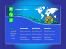 Professional Website Template royalty free illustration