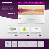 Professional website template vector illustration,. Modern Website Template, Trendy Design Vector eps 10 Stock Images