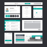 Professional website template vector illustration, Stock Images