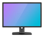 Professional widescreen сomputer monitor on white Stock Image
