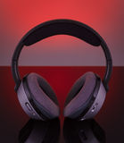 Professional wireless audio headphones. Royalty Free Stock Image