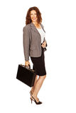 Professional Woman With Brief Case Stock Image