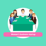 Professional woman business networking Royalty Free Stock Photography