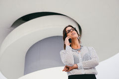 Professional woman on business phone call Stock Photography