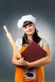 Professional woman cook Stock Images