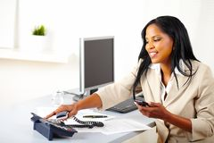 Professional woman making a call Royalty Free Stock Photography