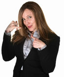 Professional Woman with Phone Gesture Stock Photos